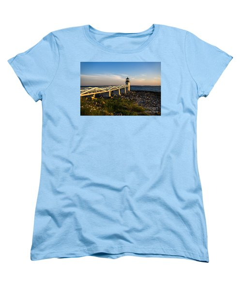Marshall Point Lighthouse Women's T-Shirt (Standard Cut) by Diane Diederich