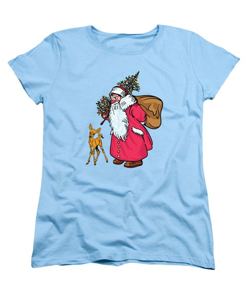 Merry Christmas. Women's T-Shirt (Standard Cut) by Andrzej Szczerski