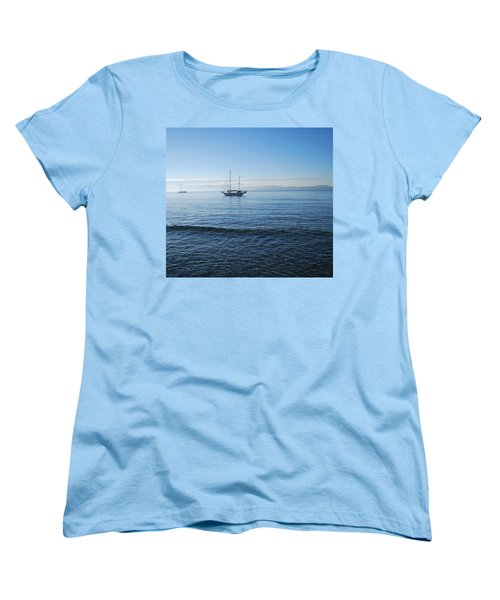 Morning Clouds Women's T-Shirt (Standard Cut) by George Katechis