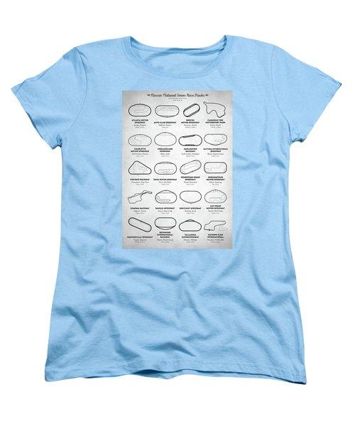 Nascar Racetracks Women's T-Shirt (Standard Cut) by Taylan Apukovska