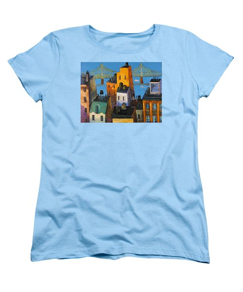 New York Women's T-Shirt (Standard Cut) by Mikhail Zarovny