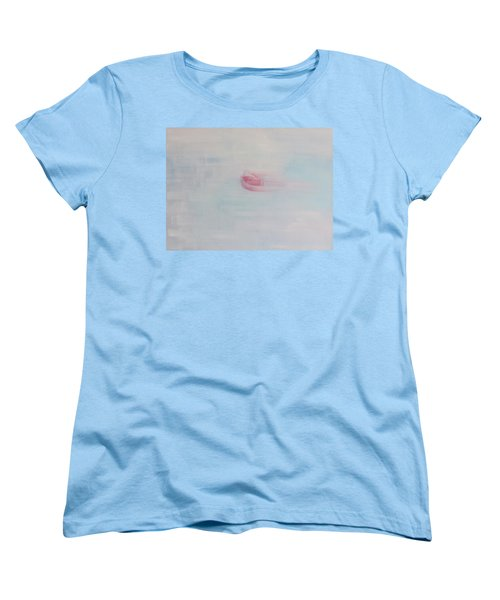 Women's T-Shirt (Standard Cut) featuring the painting Letting Things Take Their Own Course by Min Zou