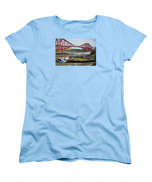 Women's T-Shirt (Standard Cut) featuring the photograph North Queensferry by Jeremy Lavender Photography