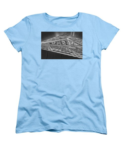 Women's T-Shirt (Standard Cut) featuring the photograph Nyc West 57 St Pyramid by Susan Candelario