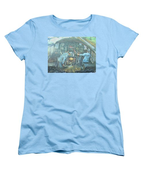 Women's T-Shirt (Standard Cut) featuring the painting On The Footplate by Mike Jeffries