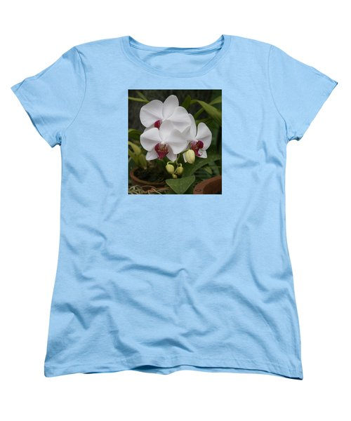 Women's T-Shirt (Standard Cut) featuring the photograph Orchid by Christian Zesewitz