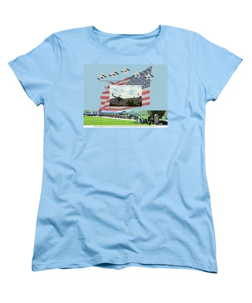 Women's T-Shirt (Standard Cut) featuring the digital art Our Memorial Day Salute by Daniel Hebard