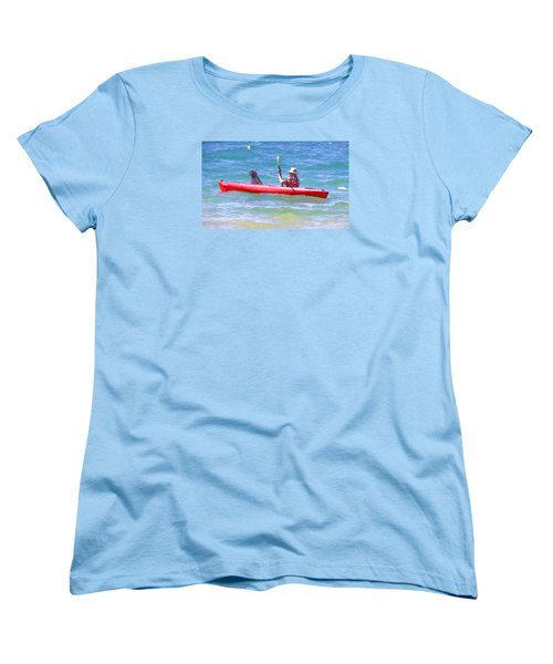 Out For A Ride Women's T-Shirt (Standard Cut) by Susan Crossman Buscho