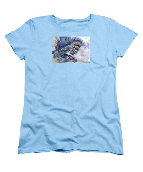 Owl At Night Women's T-Shirt (Standard Cut) by Kovacs Anna Brigitta