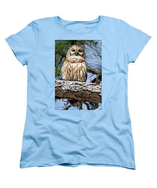 Owl In A Tree Women's T-Shirt (Standard Cut)