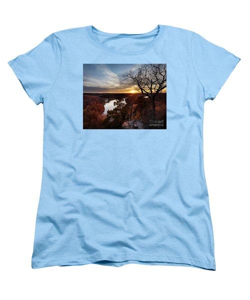 Women's T-Shirt (Standard Cut) featuring the photograph Ozark Sunset by Dennis Hedberg