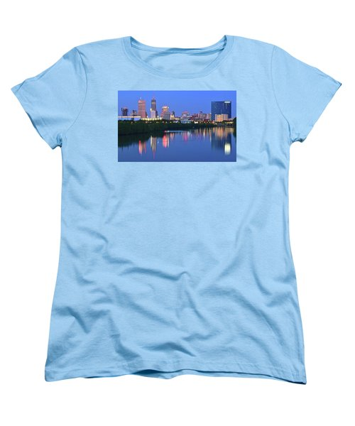 Panoramic Indianapolis Women's T-Shirt (Standard Cut) by Frozen in Time Fine Art Photography