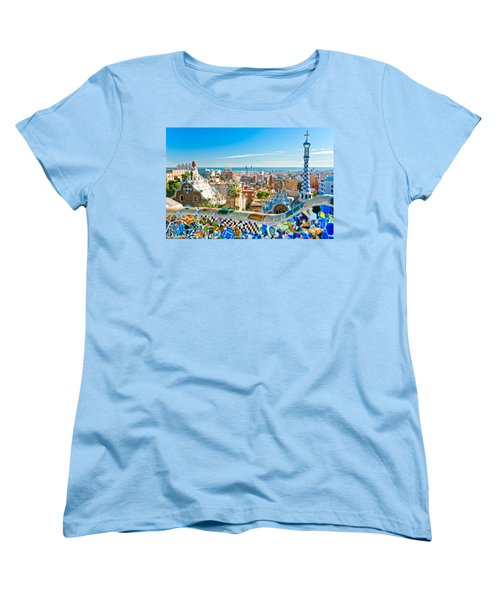 Park Guell Barcelona Women's T-Shirt (Standard Cut) by Luciano Mortula