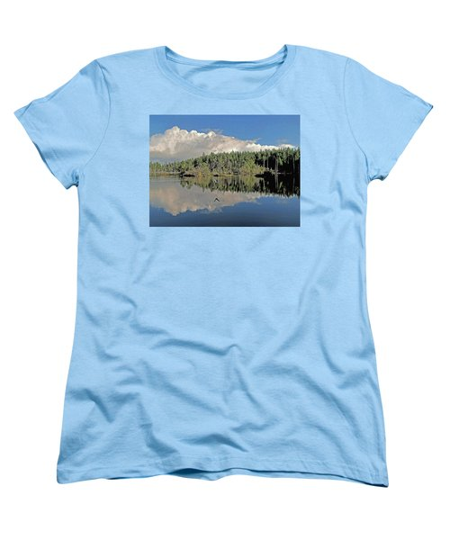 Women's T-Shirt (Standard Cut) featuring the photograph Pause And Reflect by Suzy Piatt