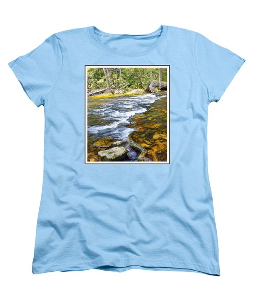Pennsylvania Mountain Stream Women's T-Shirt (Standard Cut) by A Gurmankin