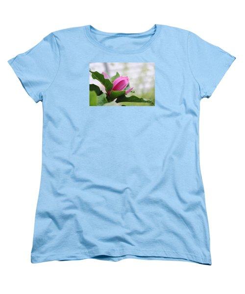 Pink Magnolia  Women's T-Shirt (Standard Cut) by Yumi Johnson