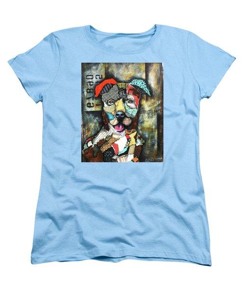 Pit Bull Women's T-Shirt (Standard Cut) by Patricia Lintner