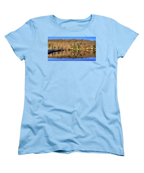 Women's T-Shirt (Standard Cut) featuring the photograph Pond Reflections by David Patterson