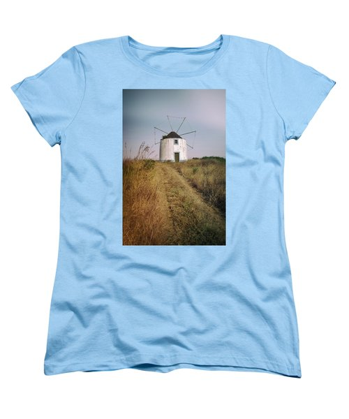 Women's T-Shirt (Standard Cut) featuring the photograph Portuguese Windmill by Carlos Caetano