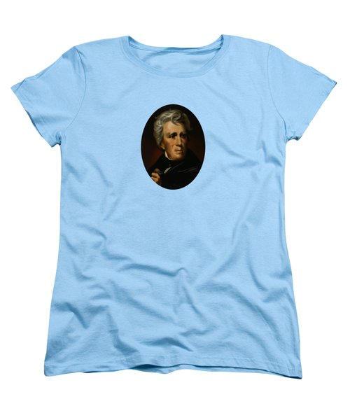 Women's T-Shirt (Standard Cut) featuring the painting President Andrew Jackson  by War Is Hell Store