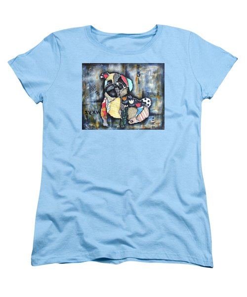 Pug Women's T-Shirt (Standard Cut) by Patricia Lintner