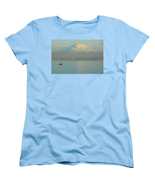 Puget Sound Women's T-Shirt (Standard Cut) by Angi Parks
