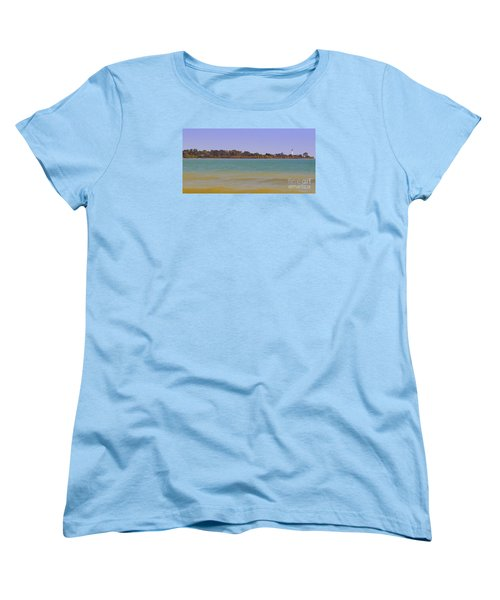 Women's T-Shirt (Standard Cut) featuring the photograph Racine Lakefront by Ricky L Jones