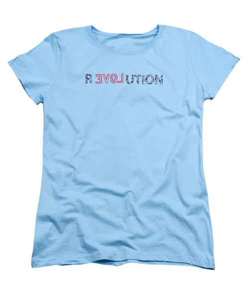 Women's T-Shirt (Standard Cut) featuring the drawing Revolution by Bill Cannon