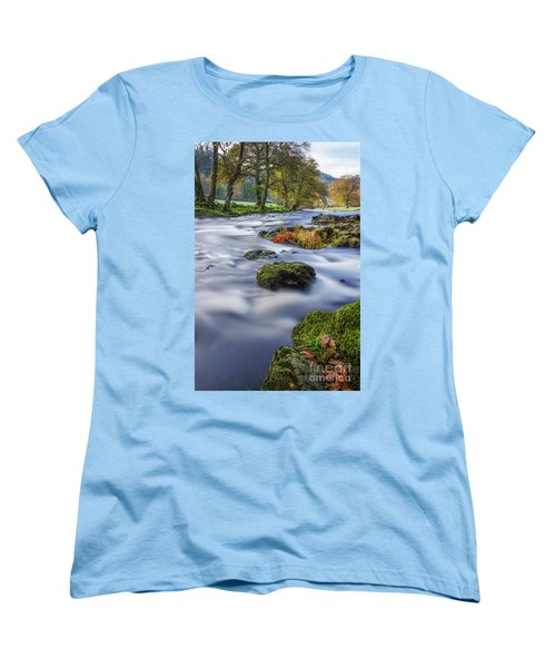 River Llugwy Women's T-Shirt (Standard Cut) by Ian Mitchell