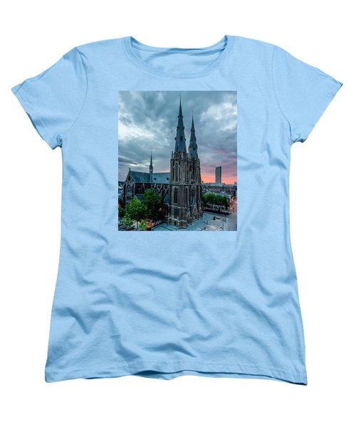Saint Catherina Church In Eindhoven Women's T-Shirt (Standard Cut) by Semmick Photo