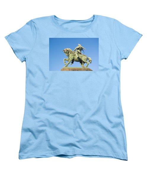Women's T-Shirt (Standard Cut) featuring the photograph Salavat Yulaev Ufa Russian Hero by John Williams
