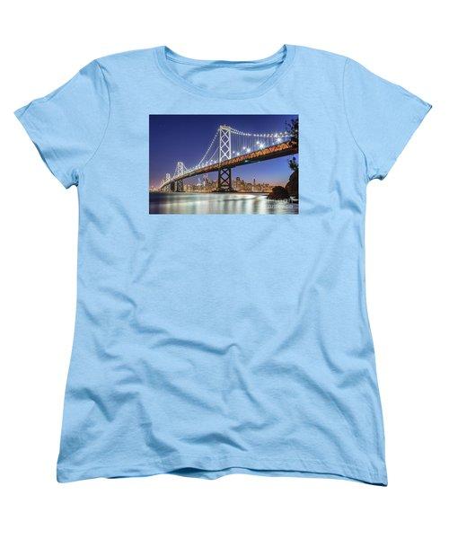 San Francisco City Lights Women's T-Shirt (Standard Cut) by JR Photography