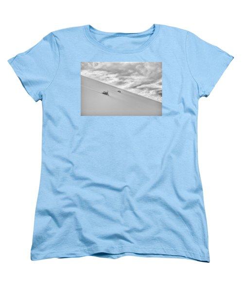Women's T-Shirt (Standard Cut) featuring the photograph Sand And Clouds by Hitendra SINKAR