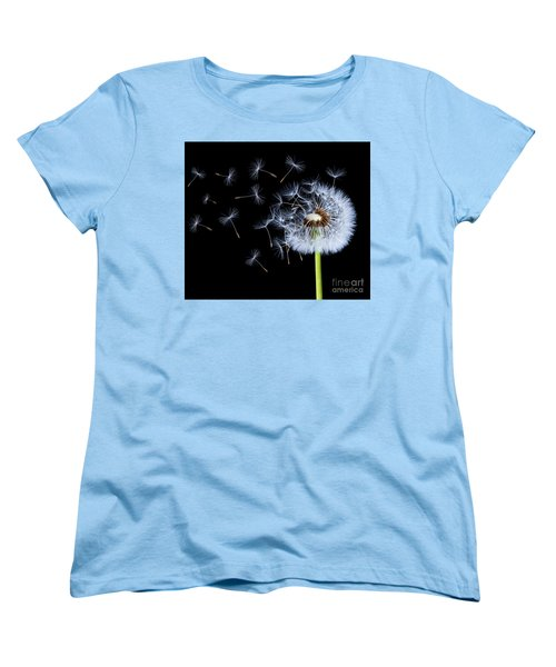 Women's T-Shirt (Standard Cut) featuring the photograph Silhouettes Of Dandelions by Bess Hamiti