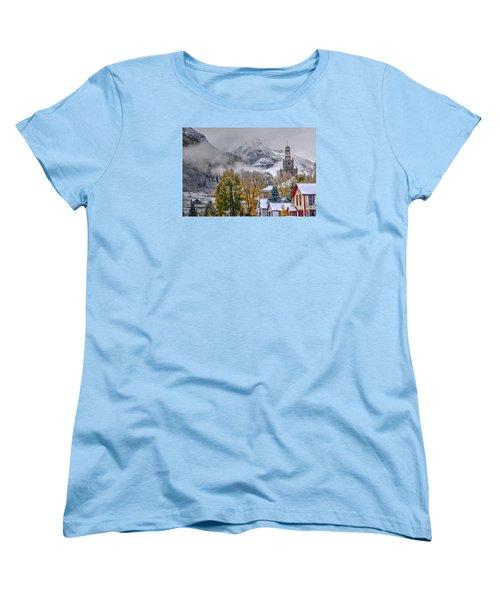 Silverton Colorado Women's T-Shirt (Standard Cut) by Charlotte Schafer
