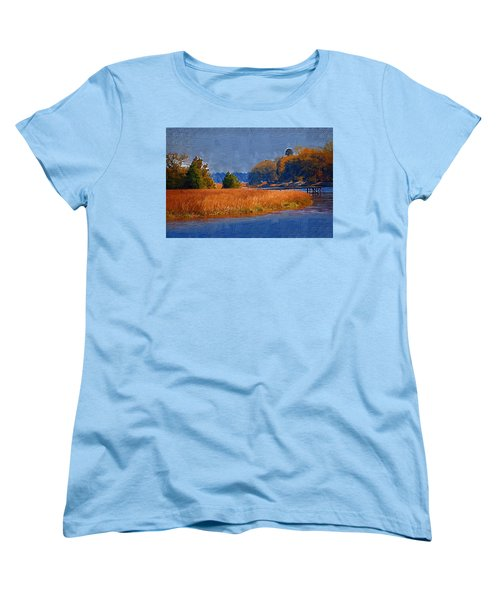 Sitting On The Dock Women's T-Shirt (Standard Cut) by Donna Bentley