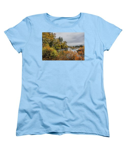 Snake River Greenbelt Walk In Autumn Women's T-Shirt (Standard Cut) by Yeates Photography