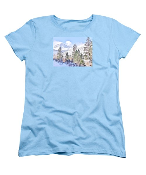 Canyon Snow Women's T-Shirt (Standard Cut) by Marilyn Diaz