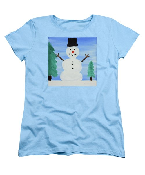 Snowman Women's T-Shirt (Standard Cut) by Anthony LaRocca