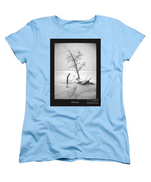 Solitude Women's T-Shirt (Standard Cut) by Sue Stefanowicz