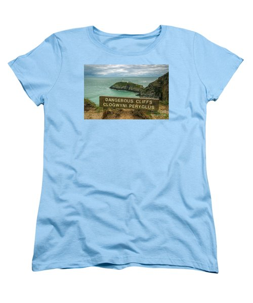 Women's T-Shirt (Standard Cut) featuring the photograph South Stack Lighthouse by Ian Mitchell
