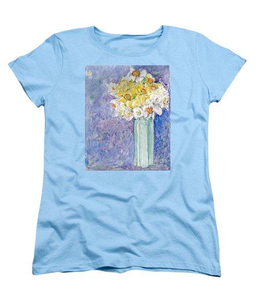 Spring Blossoms Women's T-Shirt (Standard Cut) by Jan Bennicoff