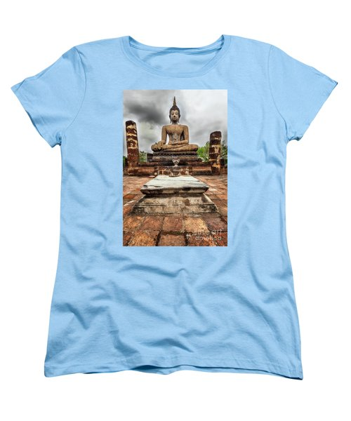 Women's T-Shirt (Standard Cut) featuring the photograph Sukhothai Historical Park by Adrian Evans