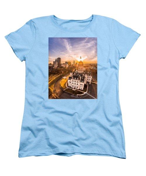Sunrise In Hartford, Connecticut Women's T-Shirt (Standard Cut) by Petr Hejl
