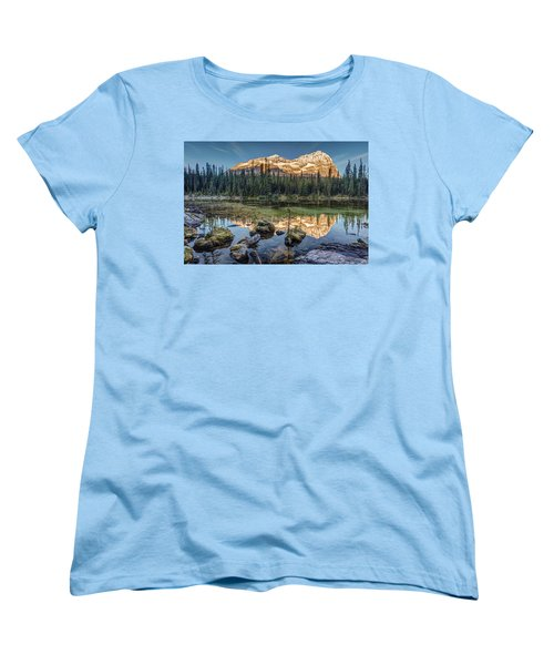Sunrise In The Rocky Mountains Women's T-Shirt (Standard Cut) by Pierre Leclerc Photography
