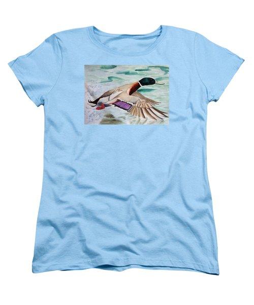 Takin Off Women's T-Shirt (Standard Cut) by Jimmy Smith