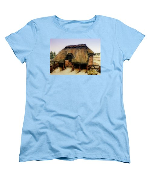 Thatched Barn Of Old Women's T-Shirt (Standard Cut) by Shari Nees