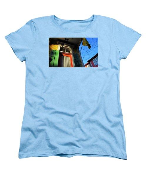 Women's T-Shirt (Standard Cut) featuring the photograph The Birds by Skip Hunt