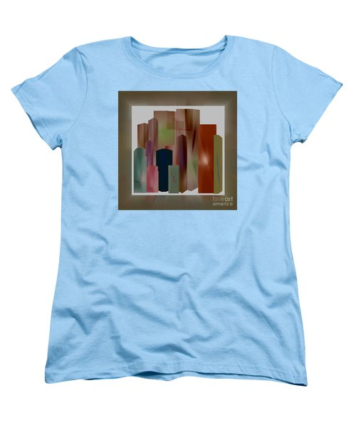 Women's T-Shirt (Standard Cut) featuring the digital art The Block by John Krakora