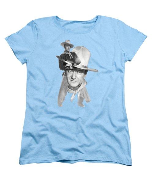 The Duke John Wayne Women's T-Shirt (Standard Cut) by Diana Van